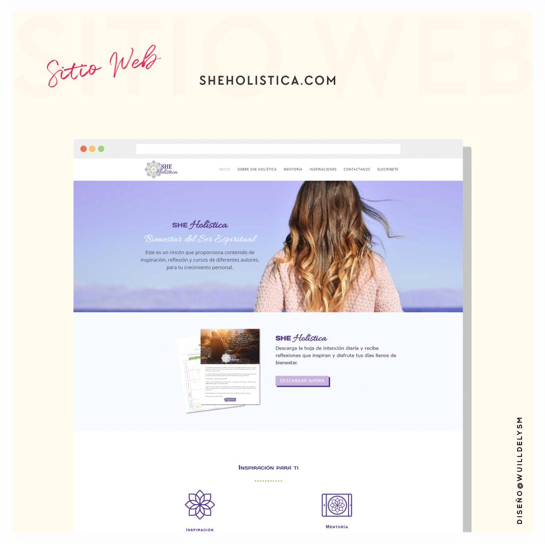 we sheholistica - Wuilldelys | Diseñadora Web y Formadora Online